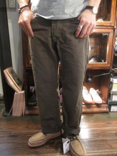 RRL Cinch back 30 's Work Pants Style Sample