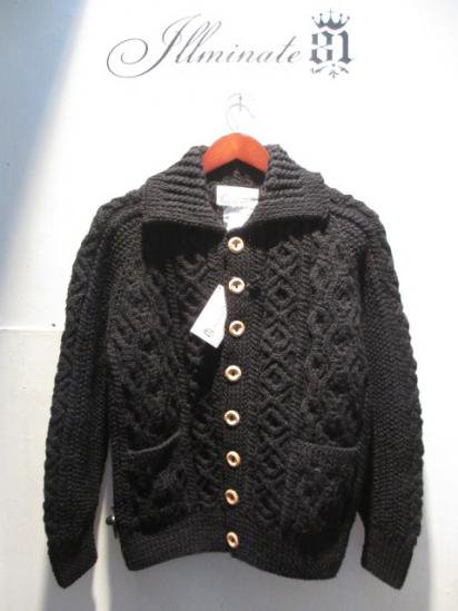INVERALLAN 3a Cardigan Made in Scotland Black