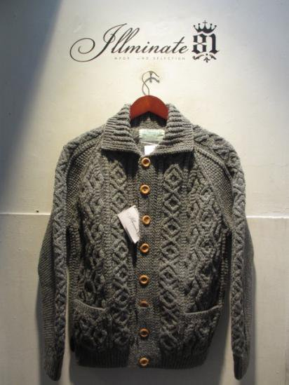 INVERALLAN 3a Cardigan Made in Scotland Gray