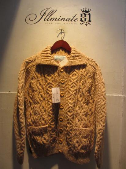INVERALLAN 3a Cardigan Made in Scotland Oatmeal