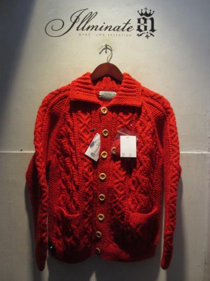 INVERALLAN 3a Cardigan Made in Scotland Red