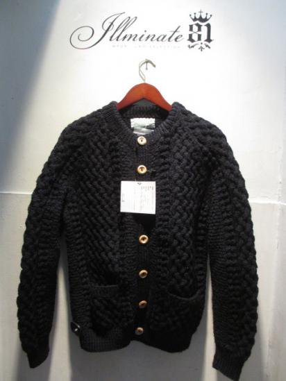 INVERALLAN 4a Cardigan Made in Scotland Navy