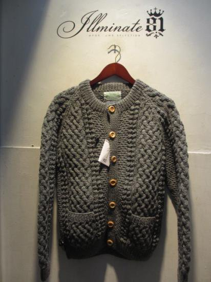 INVERALLAN 4a Cardigan Made in Scotland Gray