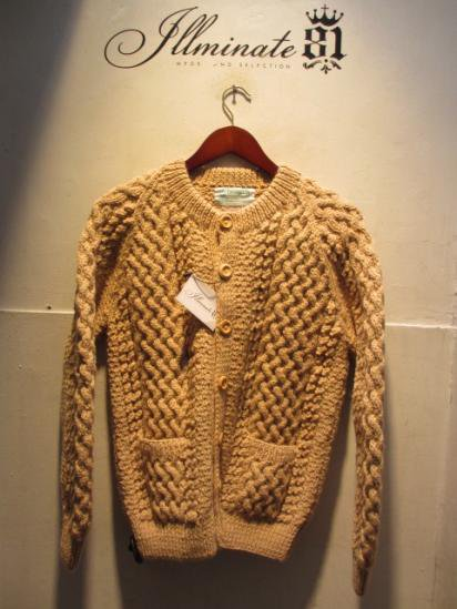 INVERALLAN 4a Cardigan Made in Scotland Oatmeal