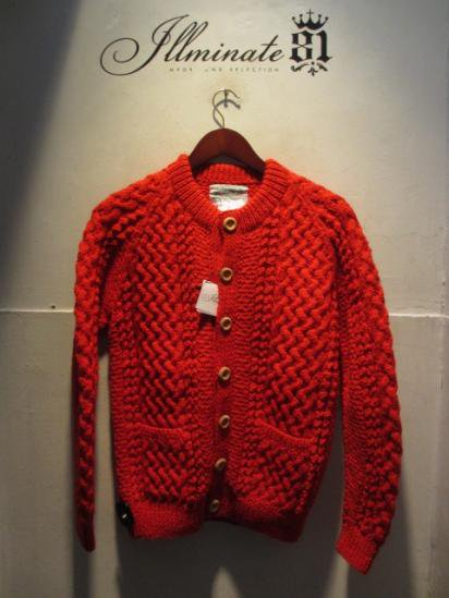 INVERALLAN 4a Cardigan Made in Scotland Red