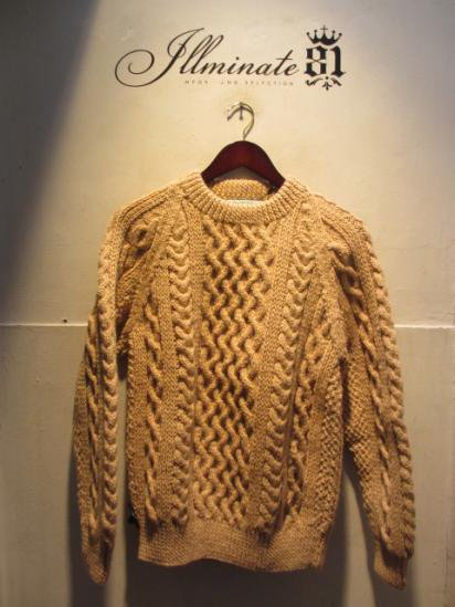 INVERALLAN 1a Crew Neck Sweater Made in Scotland Oatmeal