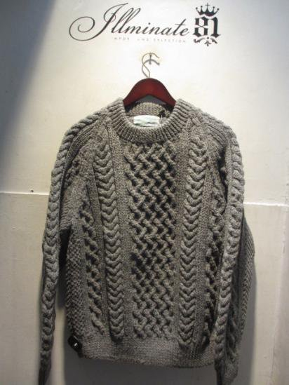INVERALLAN 1a Crew Neck Sweater Made in Scotland Gray