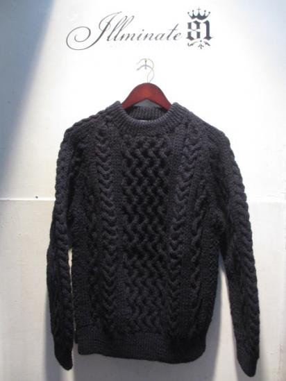 INVERALLAN 1a Crew Neck Sweater Made in Scotland Navy