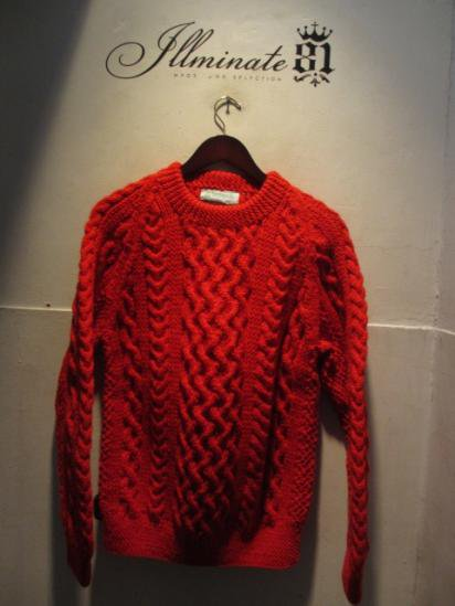 INVERALLAN 1a Crew Neck Sweater Made in Scotland Red