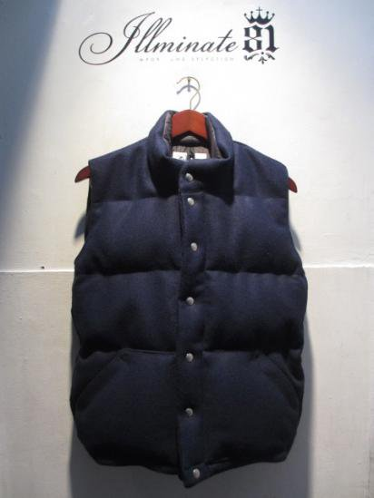 Crescent Down Works Wool Italian Vest Navy