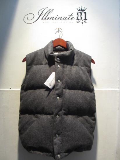Crescent Down Works Wool Italian Vest Chacoal