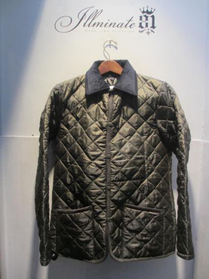 LAVENHAM Quilted Jacket Made in England Olive × Navy