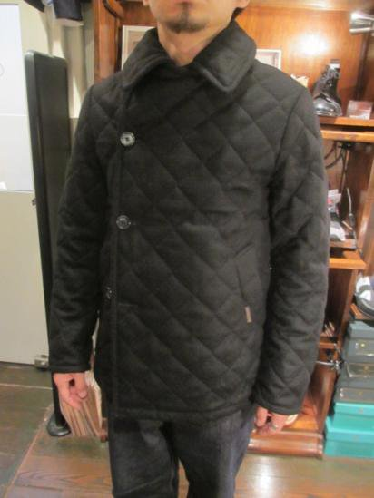 LAVENHAM Basket Wool Quilted Jacket Made in England Style sample