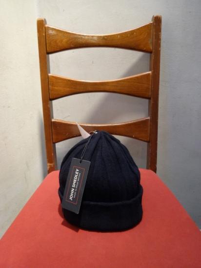 John smedley Wool × Cashmere × Silk Knit Cap Navy