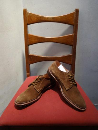 ALDEN Suede Plain Toe Shoes Made in U.S.A