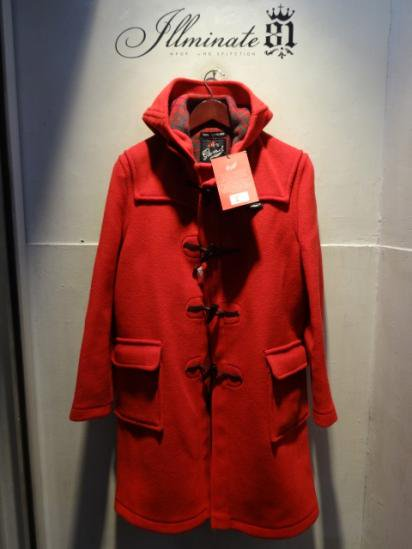 Gloverall Duffle Coat MADE IN ENGLAND Red