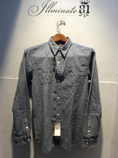 RRL Indigo Check Work Shirts<BR>SALE! 12,800 + Tax → 8,960 + Tax