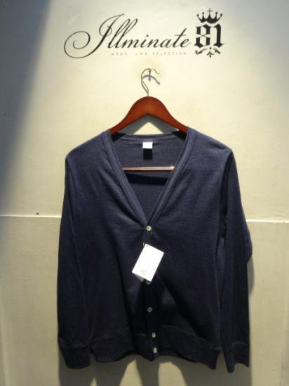 Gicipi Cotton Jersey Cardigan Made in Italy Navy