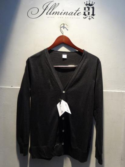 Gicipi Cotton Jersey Cardigan Made in Italy Chacoal