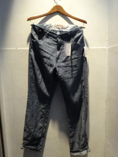 120% Lino 5pocket Linen Jeans Made in Italy