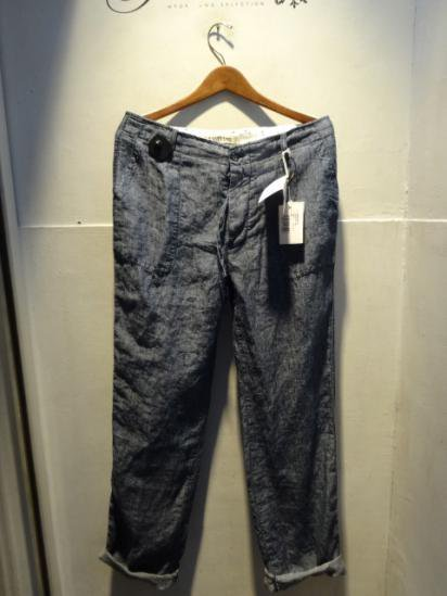 120% Lino Linen Baker pants Made in Italy