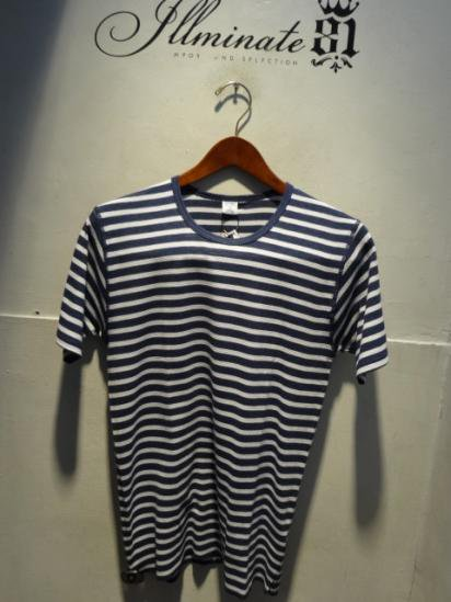 Gicipi Waffle  Crew-neck S / Sleeve Made in ITALY Navy/Wht
