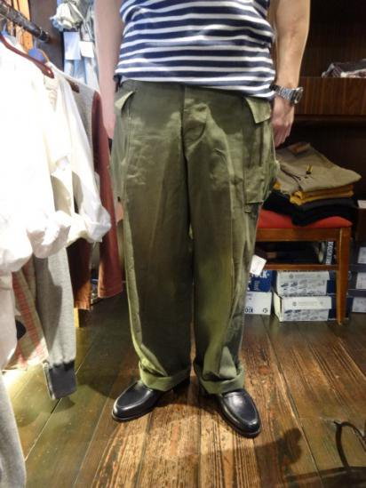 40-50's Vintage US Army M-43 HBT Pants  Style sample