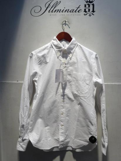 Gambert Washed Ox B.D Shirts Hand Made in America White