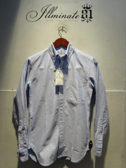 Gambert Washed Ox B.D Shirts Hand Made in America Sax<BR>SALE! 15,800 + Tax → 11,060 + Tax