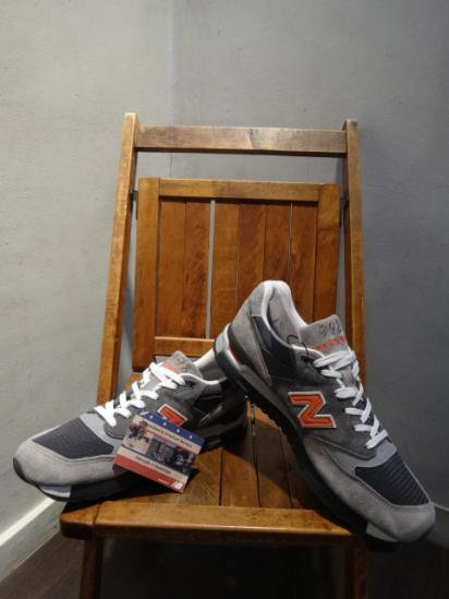 New Balance 998 Made in U.S.A Gray/Org
