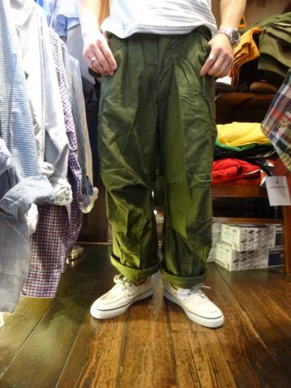 70's Vintage Dead Stock US Army M65 Cotton x Rayon Field Pants Style sample
