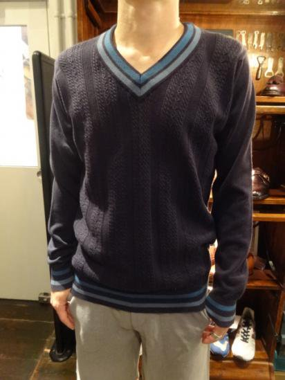 John Smedley Sea Island Cotton Cable Sweater  Style sample