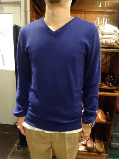 J.Crew Cotton x Cashmere V-Neck Knit Style sample