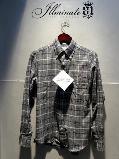 INDIVIDUALIZED SHIRTS Flannel B.D Standard Fit Made in U.S.A Gray
