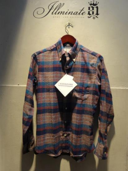 INDIVIDUALIZED SHIRTS Flannel B.D Standard Fit Made in U.S.A Br/Nv