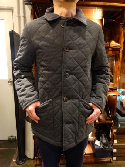 LAVENHAM Wool Quilted Jacket Made in England Style sample