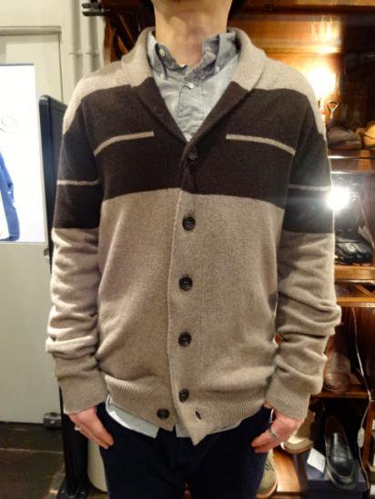 John Smedley shawl collar cardigan Cashmere & Wool Made in England Style sample
