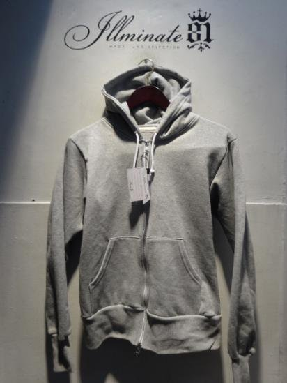 Made in Britain (Engaland/UK)<BR>Zip Up Sweat Hoody Gray