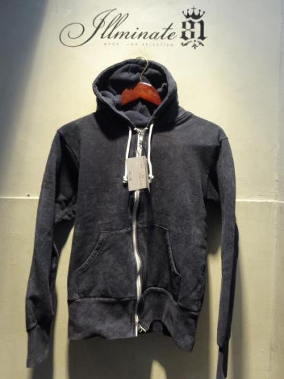 Made in Britain (Engaland/UK)<BR>Zip Up Sweat Hoody Navy Acid