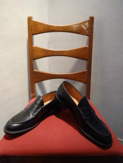 Tricker's Leather  loafer MADE IN ENGLAND Black