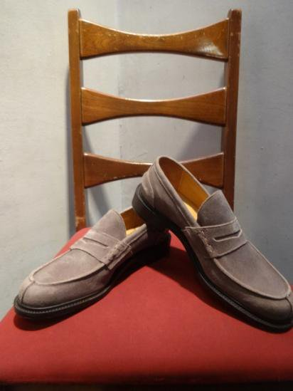Tricker's Waxed Nubuck Loafer JACOB MADE IN ENGLAND