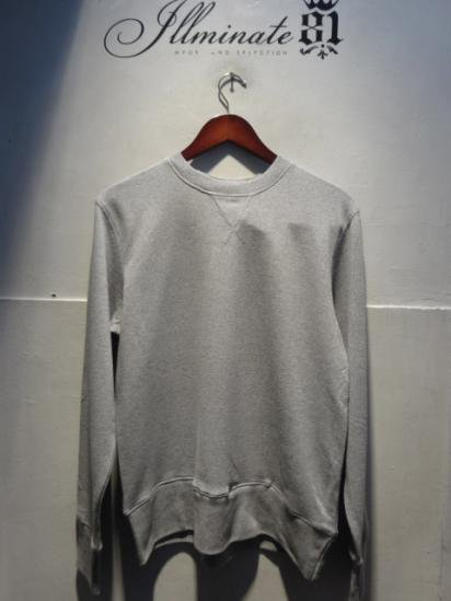 Made in Britain (Engaland/UK)<BR>Front V Gusset Sweat Shirts Gray