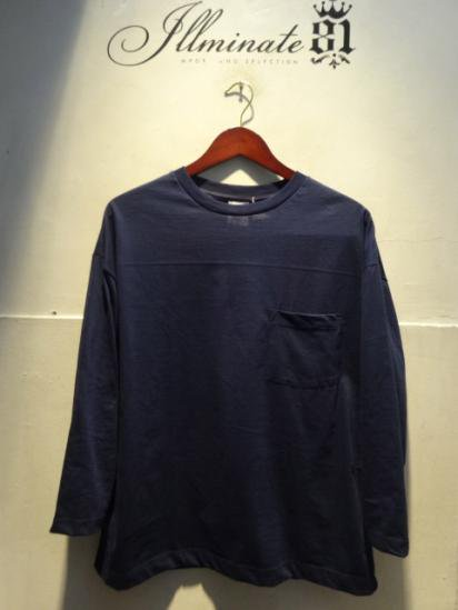 MOULIN NEUF 3/4 Sleeve Big Tee Made in France Navy