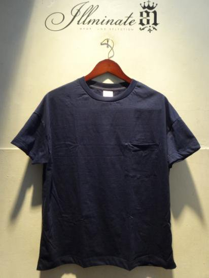 MOULIN NEUF Short Sleeve Big Tee Made in France Navy