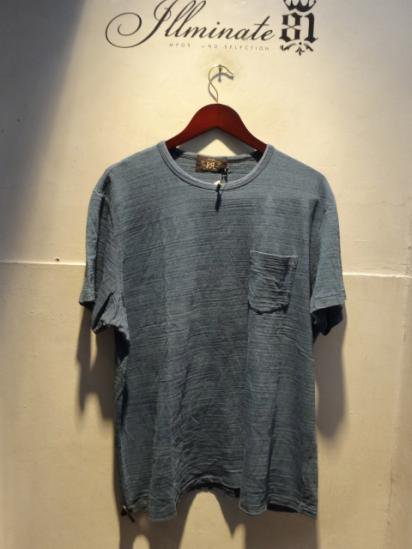 RRL Cotton Slub Indigo Pocket Tee