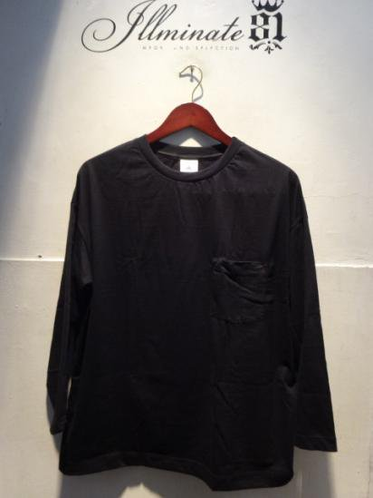 MOULIN NEUF 3/4 Sleeve Big Tee Made in France Black