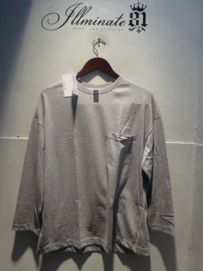 MOULIN NEUF 3/4 Sleeve Big Tee Made in France Gray