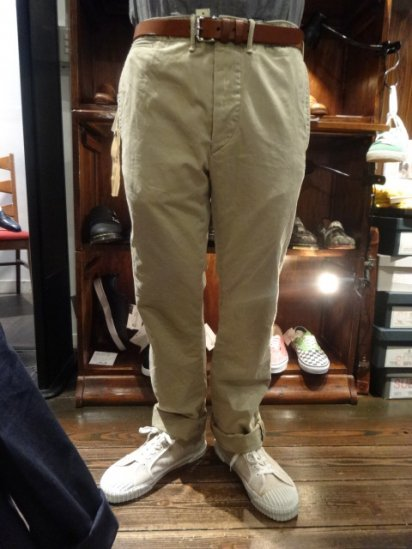 RRL Military Chino Pants Beige