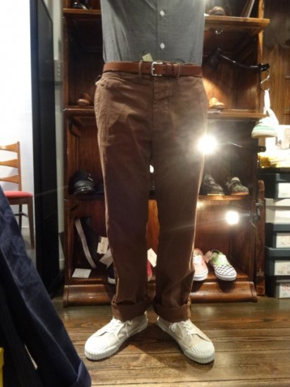 RRL Military Chino Pants Brown