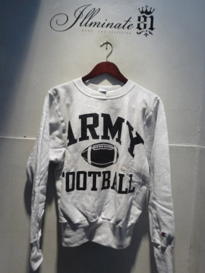 90's Champion Reverse Weave Sweat Dead stock Made in Mexico <BR>ARMY FOOTBALL